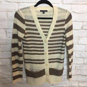 Gap Stripe Wool Blend Cardigan Small